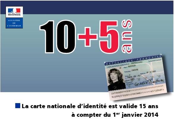 durée carte d identité Extension de la durée de validité de la carte nationale d'identité