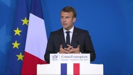 European Union – Press conference given by M. Emmanuel Macron, President of (...)